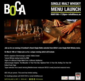BOCA - Single Malt Menu Launch March 2017